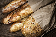 Artisan Photos - Artisan bread by Elena Elisseeva