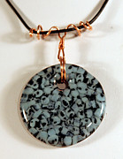 Handcrafted Jewelry Prints - Artisan Murrini Glass Pendant GM05281205 Print by P Russell