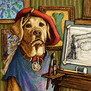Labrador Digital Art - Artist Lab by Kathleen  Harte Gilsenan