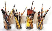 Studio Shot Art - Artist Paint Brushes 1 by Eamonn Hogan
