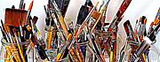 Studio Shot Art - Artist Paintbrushes 5 by Eamonn Hogan