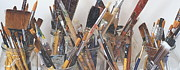 Studio Shot Art - Artist Paintbrushes 6 by Eamonn Hogan