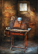 Tables Framed Prints - Artist - The etching table Framed Print by Mike Savad
