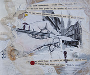Rainy Day Mixed Media - Artist Walk by Danica Wixom
