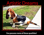 Basset Hound Framed Prints - Artistic Dreams Framed Print by John Rizzuto
