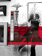 Monochrome Digital Art - Artistic Grafitti in Paris by Hazardous Coffee