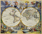 World Map Canvas Photos - Artistic Old World Art Map  by Inspired Nature Photography By Shelley Myke