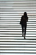 Silhouette Photos - Artistic Silhouette Girl walking down by Lars Ruecker