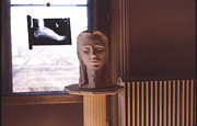 Woman Head Sculpture Prints - Artists Bedroom Print by Alan McCormick