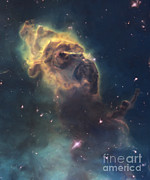 Carinae Nebula Prints - Artists Painting Of Jets In The Carina Print by Carlyn Iverson