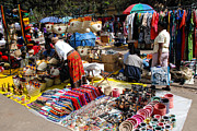 Africa Prints - Arts Vendors Downtown Nairobi Kenya Print by Robert Ford