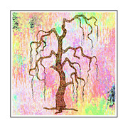 Nina Bradica Framed Prints - Artsy Tree Framed Print by Nina Bradica