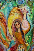 Judaica  For Sale Paintings - Artwork Fragment 44 by Elena Kotliarker
