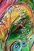 Judaica  For Sale Paintings - Artwork Fragment 48 by Elena Kotliarker