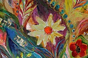 Judaica  For Sale Paintings - Artwork Fragment 66 by Elena Kotliarker