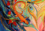 Judaica  For Sale Paintings - Artwork Fragment 68 by Elena Kotliarker