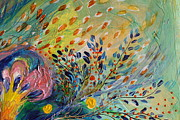 Judaica  For Sale Paintings - Artwork Fragment 71 by Elena Kotliarker