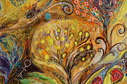 Judaica  For Sale Paintings - Artwork Fragment 74 by Elena Kotliarker