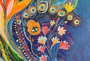 Fatima Paintings - Artwork Fragment 79 by Elena Kotliarker
