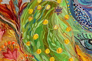 Fatima Paintings - Artwork Fragment 81 by Elena Kotliarker