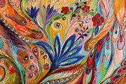 Judaica Prints - Artwork Fragment 94 Print by Elena Kotliarker