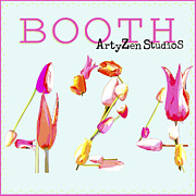 Art Product Mixed Media Prints - ArtyZen Studios at SURTEX Booth 424 Print by ArtyZen Studios
