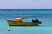 Rogers Beach Prints - Aruba Boats Print by Edward Diller