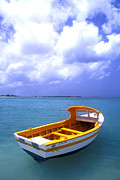 Boats On Water Framed Prints - Aruba. Fishing Boat Framed Print by Anonymous