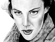 Black Ring Drawings - Arwen Undomiel by Kayleigh Semeniuk