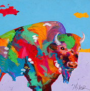 Buffalo Paintings - As Far as the Eye Can See by Tracy Miller
