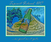 Topsail Island Mixed Media Posters - As Good as it Gets Poster by Betsy A Cutler East Coast Barrier Islands