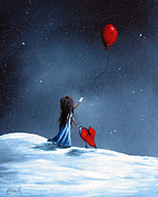 Dreams Paintings - As Her Heart Breaks by Shawna Erback by Shawna Erback