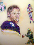 Football Pastels - As Legends Go by Tommy  Winn