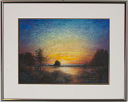 Postcard Pastels - As Night Falls by Elaine Norbisrath