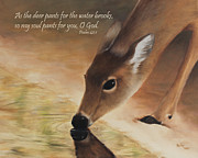 Becky Framed Prints - As the deer verse Framed Print by Becky West