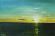 Jamaican Sunset Posters - As the Sun Goes Down Poster by Kenneth Harris