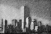 Twin Towers Trade Center Posters - As You Were Poster by Joann Vitali