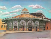 Asbury Park Jersey Shore Architecture Paintings - Asbury Park Carousel House by Melinda Saminski