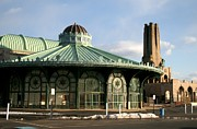 Historic Buildings Bruce Springsteen Prints - Asbury Park Carousel Print by Melinda Saminski