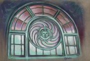 Asbury Park Carousel Window Print by Melinda Saminski