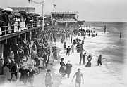 Beach Scenes Photo Metal Prints - Asbury Park - New Jersey - 1908 Metal Print by Daniel Hagerman