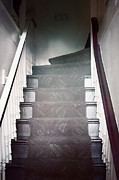 Wooden Stairs Prints - Ascend Print by Margie Hurwich