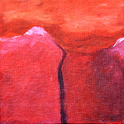 Mountain Snow Landscape Paintings - Ascend by Paul Anderson