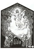 Christianity Drawings - Ascension by Carl Benson