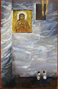 Catholic Art Painting Originals - Ascension by Mary jane Miller