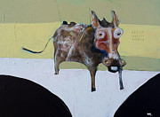 Donkey Mixed Media Posters - Asellus No.1 Poster by Mark M  Mellon
