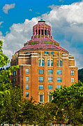 Grand Memories Posters - Asheville City Hall Poster by John Haldane