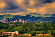 Asheville Digital Art - Asheville North Carolina by John Haldane