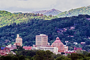 City Photography Paintings - Asheville Painted by John Haldane
