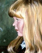 Portrait Commissions Paintings - Ashley by Michael Swanson